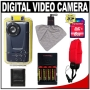 Bell & Howell DV550UW Digital Video Camcorder / Still Camera with Underwater Housing + 8GB Card + (4) AA Batteries & Charger + Tripod