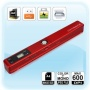 Portable Cordless Mini Scanner Handyscan , 600 x 600 dpi, red