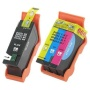 2-PACK Dell (Series 21) Compatible Black Y498D & Color Y499D Ink Cartridges for printer V515w V313w