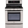 LG LRG3083ST Freestanding Gas Range with 5.4 Cu. Ft. Oven Capacity 1.0 Cu. Ft. Storage Drawer EasyClean Technology EvenJet Convection System 17K BTU S