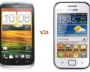 HTC Desire V and Samsung Galaxy Ace Duos S6802