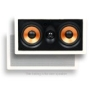 "Micca M-CS Dual 5.25 Inch 2-Way MTM In-Wall Speakers with Pivoting 1"" Silk Dome Tweeter (Each, White)"