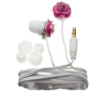 Nemo Digital NF65586-ERE Enamel Flower Earbud (Red with White Wires)