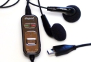 HTC/DOPOD WIRED REMOTE MUSIC CONTROL W/ EARPHONE, BLACK, MODEL RC-W100