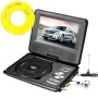 270 degree Swivel Portable DVD Player LCD Screen Display Game USB TV SD SWIVEL & Flip VAG CD VCD MP3 MP4 USB Home Theater by Bravolink (7.5 inch (788)
