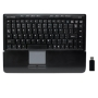 Gear Head KB4950TPW Wireless Touch II Touchpad Keyboard - 2.4 GHz Connectivity 98 Keys Quiet-Type New