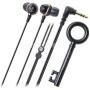 Audio-Technica ATH-CKF500 Fashion Fidelity In-Ear Rhinestone Headphones - Black