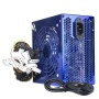 Blue Star 650W 20+4-pin Blue LED Fan ATX Power Supply w/SATA & PCIe (Blue)