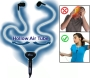 Smart&amp;Safe Hollow Air Tube Hands-free Headset - Reduces 98% of Harmful Radiation Emissions Generated By Cellphones - Compatible with iPhone &amp; Blackber