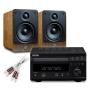 Creative Audio CA-MS5-BW Micro Stereo System (Denon DM38 Black + Q Acoustics 2010 Walnut + £50 QED speaker cables). 2 Year Guarantee.
