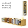 VIRGO - CD / DVD / Blu-ray / VIDEO Multimedia Wall Storage Shelf - Oak