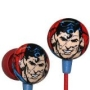 iHip DC Universe Classic Superman Man of Steel Face Print Logo Hi-Fi Noise-Reducing Ear Buds Earphon