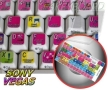 4KEYBOARD SONY VEGAS KEYBOARD STICKERS FOR DESKTOP, LAPTOP AND NOTEBOOK