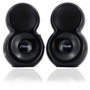 XTune Shiny Black 2.0 Speakers - 2W RMS - USB Powered