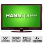 Hannspree USA Hannspree ST558MUR 55 LCD HDTV - 1080p, 16:9, 120Hz, 50,000:1 Dynamic, 5ms, HDMI, Burgundy Red