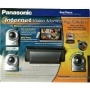 Panasonic Internet Video Monitoring System with 3 Color Cameras, TV Adaptor and Remote Control (Gray)