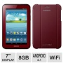 "Samsung Galaxy Tab 2 GT-P3113GRSXAR with WiFi 7"" Touchscreen Tablet PC Featuring Android 4.1 (Jelly Bean) Operating System, Garnet Red"