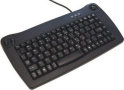 Solidtek Mini Keyboard with built- In Trackball PS/2 Black Color