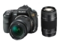 a (alpha) DSLR-A200W 10.2 MP Digital SLR Camera (with 18-70 mm / 75-300 mm Lenses)