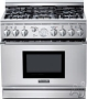 """PRG366GH Pro Harmony 36"""" Pro-Style Gas Range with 5.0 cu. ft. Convection Oven Full Access Tele"""
