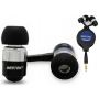 Ultra Slim Bass Retractable In-Ear Earbud Earphone Headphone Stereo Headphones for iPod/MP3/MP4 Audio Media Player (Black)