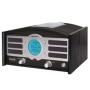 Crosley Radio Two-In-One Retro Portable Clock Radio Explorer 1 in Black