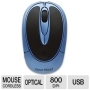 Gear Head MP2100BLU Wireless Optical Mouse (Optical - USB - 3 x Button - Black, Blue)
