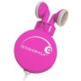 Grandmax R-AUDIO-4 Retractable Stereo Earphone, Pink