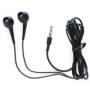 Black Stereo Earphone Headphones For iPod Nano iPhone 3G 3GS