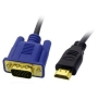 Aptii HDMI Male to VGA Male Cable Lead Gold 1 metre