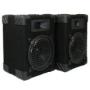 New Home PA DJ Karaoke Bookshelf Black Pro Audio Two Way Speaker Pair 800C