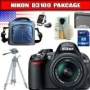 Nikon D3100 14.2MP Digital SLR Camera with 18-55mm f/3.5-5.6G AF-S DX VR Nikkor Zoom Lens Package 1