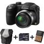 Panasonic Lumix LZ20 Bridge Camera - Black + Case + 16GB Memory Card + AA Battery and Charger (16.1MP, 21x Optical Zoom) 3 inch LCD
