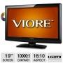 Viore LCD19VH56 19 Class LCD HDTV/DVD Combo - 1440 x 900, 16:10, 10000:1 Dynamic, 5 ms, HDMI, USB, VGA (Refurbished)