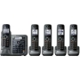 Panasonic TG764X Series Link-to-cell Bluetooth Cellular Convergence Solution with 5 handsets
