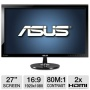 "ASUS VS278Q-P 27"" Black Full HD LED display"