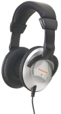 Sylvania SYL-626 Professional Full Size Headphones (Black and Silver)