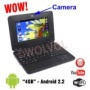 """BLACK NETBOOK Built-in Camera 7"""" MINI LAPTOP Notebook Netbook PC Google Android 2.2 Computer Flash WiFi Internet 3 USB Ports YouTube Facebook and TONS"""