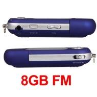 Easy Provider Generico 8GB di musica MP3 Music Player FM Radio Stick Blu Spercherstick
