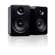 Kanto YU5MB Premium Bookshelf Speakers with aptX Bluetooth 4.0 ,Matte Black