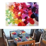 Placemats, Dealgadgets Set of 4 Unique Design Art Painting Waterproof Washable Plastic Vinyl Table Mats(400mm*290mm) (Grey)