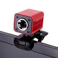 Andoer USB 2.0 12 Megapixel HD Camera Web Cam with MIC Clip-on Night Vision 360 Degree for Desktop Skype Computer PC Laptop Red Shell