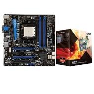 MSI A75MA-G55 AMD A Series Socket FM1 Mothe Bundle