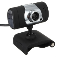 LUPO 32 Megapixel (Plug & Play) PC Skype Webcam & Mic with 360 degree rotation - BLACK