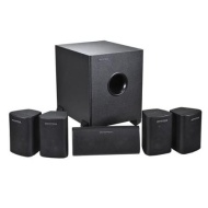 Monoprice 5.1 Channel Home Theater Satellite Speakers & Subwoofer  - Black