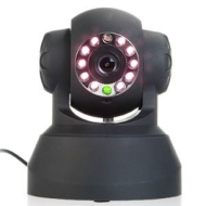 IP webcam Internet CCTV camera infrated Nightview WiFi Wireless Pan Tilt IR black