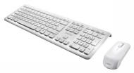 Perixx PERIDUO-703W DE, Funk Tastatur und Maus Set - 2.4G - Bis zu 10m Reichweite - Mini USB Empfänger - Klavierlack Weiss - 128 Bit AES Encryption -