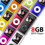 SAVFY® 8GB MP3 MP4 Player with FM Radio, Games, Voice Recorder & Movie Player, 6 Bright Colours Available: Black, Silver, Purple, Red, Blue and Pink