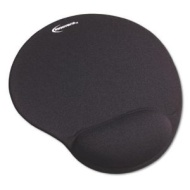 Innovera Mouse Pad w/Gel Wrist Pad Nonskid Base 10-3/8 x 8-7/8 Black