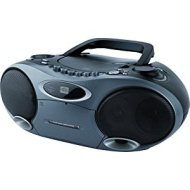 Memorex MP4907BK CD MP3 Boombox MP3 with Cassette Player and AM/FM Radio